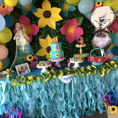 Emma's Frozen fever sunflower birthday!  - Frozen Fever