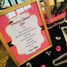 Class of 2018 Graduation Dessert Table  - Pink, White, Black and Gold