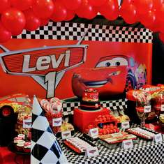 Levi's Disney Cars 1st Birthday Party - Cars (Disney movie)