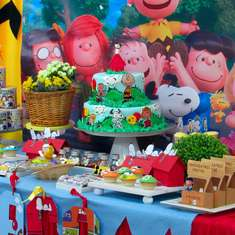 Snoopy and Charlie Dreamed birthday party - Charlie brown