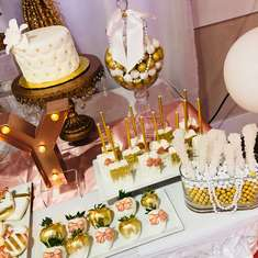 Myesha & Markese's Baby Shower  - White, Gold and Rose Gold