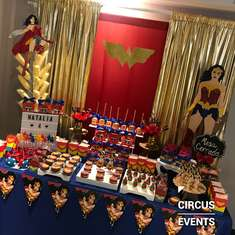 Natalia Wonder Woman 4th birthday party - Wonder Woman
