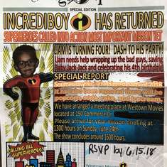Incrediboy's Super 4th b-day - Incredibles