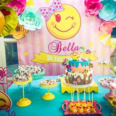 Bellas Emoji 8th Birthday Party