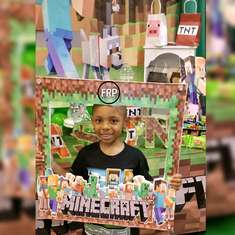 Minecraft birthdayparty - Basketball baby shower