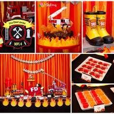 Firetruck Birthday Party - Fire Truck / Firefighter