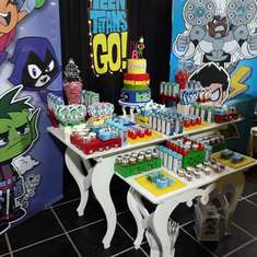 8 years Birthday - Thiago - Titans Teen go - None