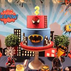 Super Heroes Party - Spiderman - Batman