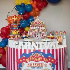 Carnival theme first Birthday  - Carnival
