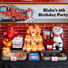 Fireman Birthday Party - Fire Truck / Firefighter