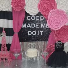 Parisian Chanel Sweet 16 birthday party  - Parisian Chanel