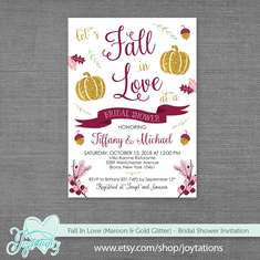Fall In Love Bridal Shower - Pumpkin