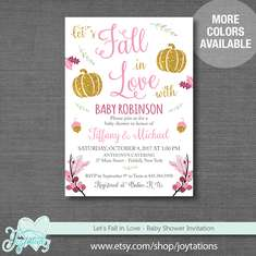 Fall In Love Baby Shower - Pumpkins