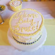Baby boy, friend's Baby Shower - Grey elephant, Safari
