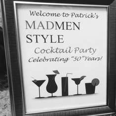 "Patrick's ""50th"" MadMen Cocktails  - Mad Men"
