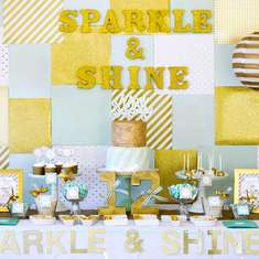 Mint & Gold Birthday Party - Sparkly & Shine Pre-teen Party