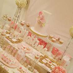 Shabby Chic birthday party - Happy Birthday Martina.