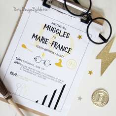 HARRY POTTER THEME PARTY, A MODERN & ELEGANT CELEBRATION! -  Modern, but simple, elegant and shiny at the same time, black&white and silver&gold accents