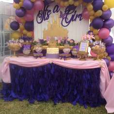 Disney Castle Baby Shower - Its a girl