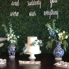 Vintage Blue and White Baby Shower - Baby Shower