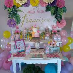 Francisca's Flamingo birthday party - Flamingo
