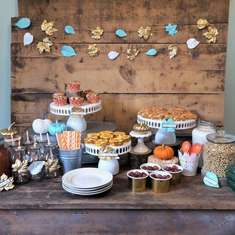 Rustic Fall Breakfast Bar - Fall Theme