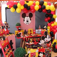 hermosa fiesta de mickey  mouse para alvarito - mickey mouse
