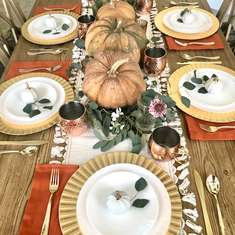 Fall Thanksgiving Tablescape  - Fall/Thanksgiving