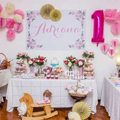 Adriana's peonies 1st birthday party - Peonies