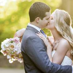 Madison and Herbie's Springtime Garden Wedding - Serenity and Rose Quartz