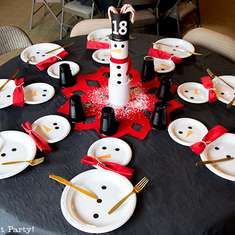 Cute Snowman Advent Dinner Party - Snowman