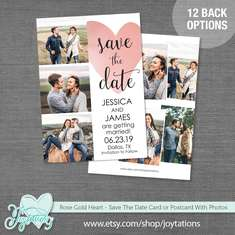 Heart Save The Date Card - Hearts