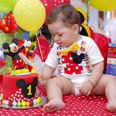 Emiliano's 1st birthday party - Mickey Mouse