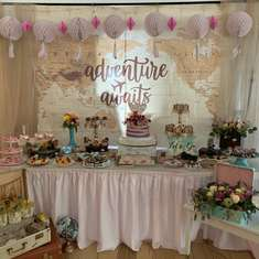 Soon to be sister-in-law's Bridal Shower - Vintage Travel theme
