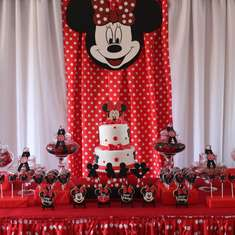 Red, White and Black Minnie Mouse Party  - Minnie Mouse