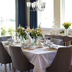 Easter Tablescape - Tablescape
