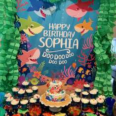Sophia Shark's 2nd Birthday Party - Baby Shark