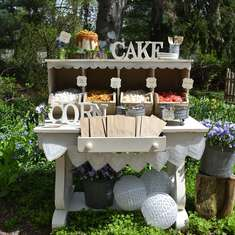Cakes & Corn Rustic Wedding Popcorn Bar - Rustic Wedding