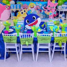 Baby shark 1st birthday party - Baby shark
