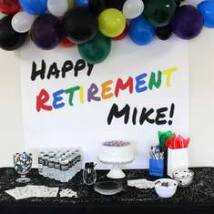 Mike's Retirement Party - Colorful Retirement