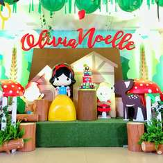 Olivia's Snow White birthday party - SNOWHITE AND THE SEVEN DWARFS THEMED PARTY