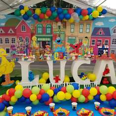 Luca Sesame Street 1st birthday party - Sesame street