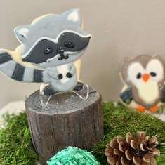 Oh deer he's almost here baby shower - Woodland Animals