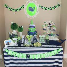 Preppy Whale 1st Birthday Party - Preppy Whale