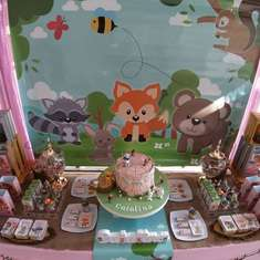 Cata's Woodland birthday party - Woodland
