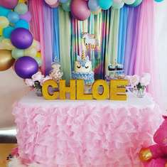 Chloe's Rainbow Wishes and Unicorn Kisses 1st Birthday  - Unicorn