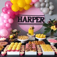 Harper's Pink 3rd birthday party - Pink