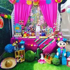Mexican artist Frida Khalo  - Mexican theme party