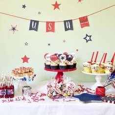 Festive 4th of July Dessert Table - 4th of July