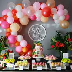 Emma's Tropical Pink Flamingo baby shower - Flamingos